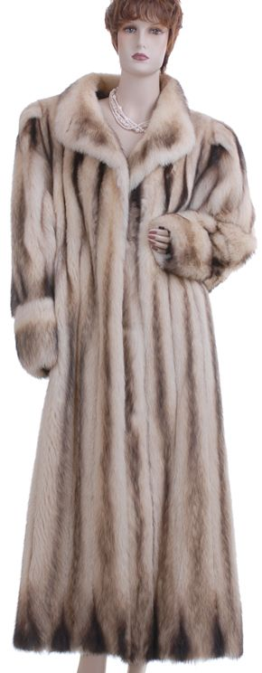 Sex &amp City Glam! Luxury! Russian Fitch Mink Fur Full-Length Swing