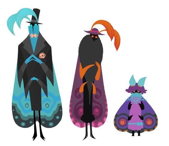 Moth Family by redredundance.deviantart.com on @deviantART