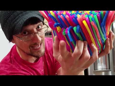 Diy Baby Chair Of Straws Funnel Vision Gets Soggy Vlog Youtube Funnel Vision Diy Edible School Supplies Diy Baby Stuff