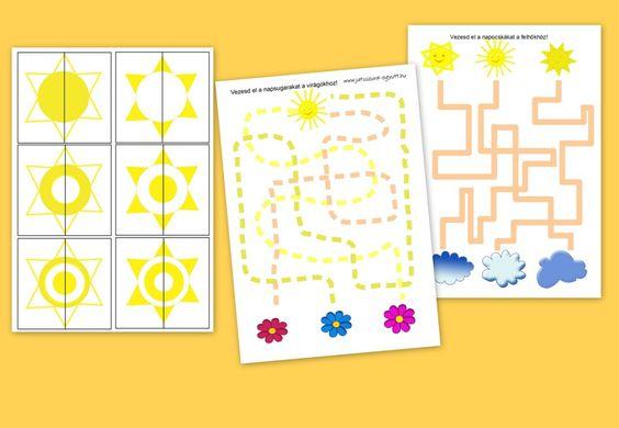 Letölthető nyomtatható tavaszi ovis játékok