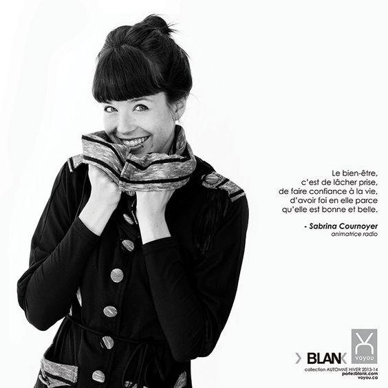 Le bien-être selon: Sabrina Cournoyer - Animatrice québécoise  Veste-tunique Voyou