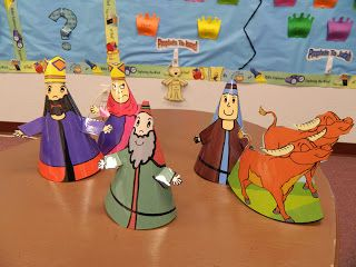 """great idea to act out Bible Stories...have the kids wear the """"hats"""" to be the different characters to retell the story!"""