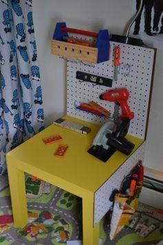 Mit Diesen 10 Ikea Hacks Konnen Sie Ihren Lack Tisch Ganz Einfach Umfunktionieren Lumberstorage Ikea Tisch Werkbank Kinder Kinder Werkzeugbank