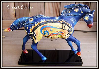 Kokopelli is one of the most beautiful of the Ponies in the Trail of the Painted Ponies series. The colors are just stunning as is the details. The artist is Joel Nakamura. I have a lot of these and this is one of my favorites.