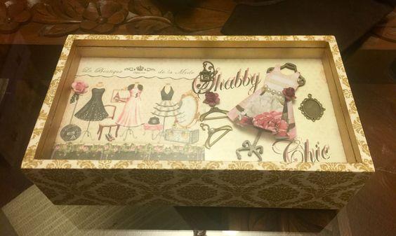 Caja Vintage Vestido Shabby
