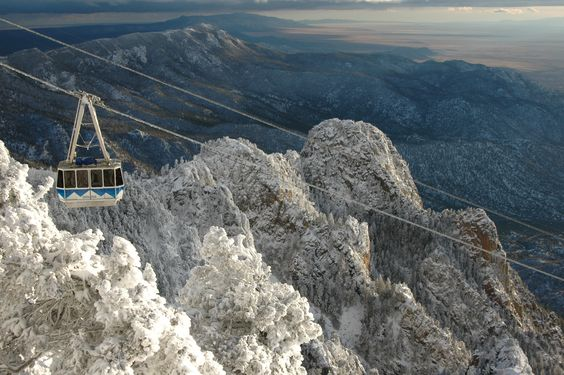 The view from Sandia Tram on a crisp winter day