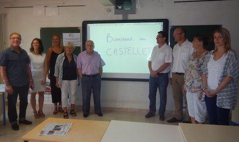Installation des Tableaux numériques interactif dans les écoles du Castellet