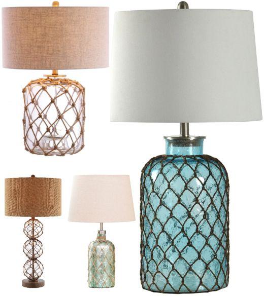 Classic Coastal Theme Table Lamps Lamp Coastal Style Decorating Beautiful Lamp