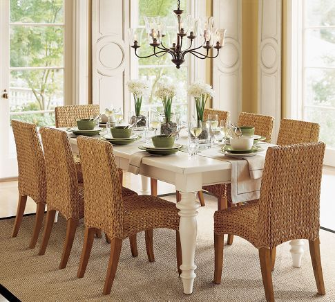 Seagrass Chair Pottery Barn 199 Each Love This Look Yellow Dining Room Farmhouse Dining Table Seagrass Dining Chairs