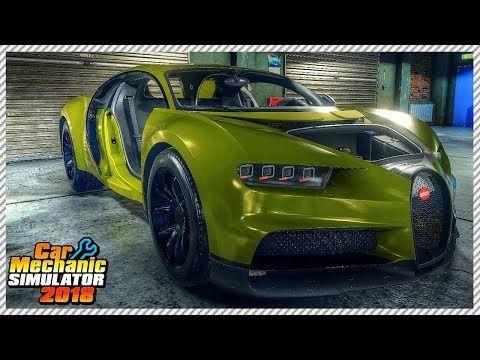Junkyard Buggati Chiron Rescue Car Mechanic Simulator 2018 Ep 17 Youtube Car Mechanic Car Simulation