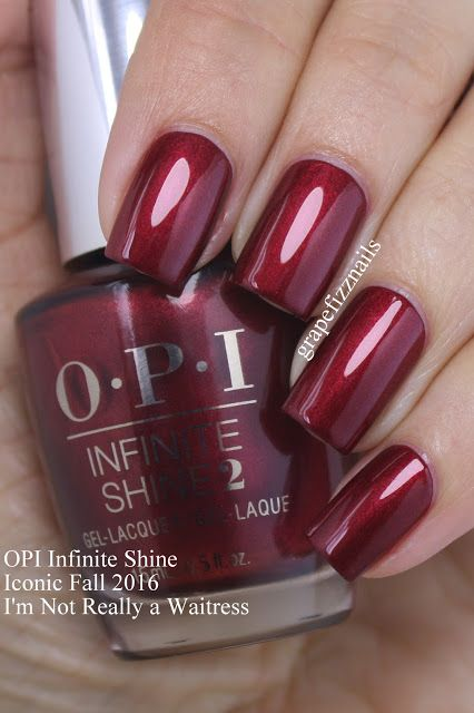 Grape Fizz Nails | OPI Infinite Shine Iconic Shades for Fall 2016: