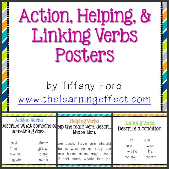 Linking Verbs Back To School Night And Back To School On