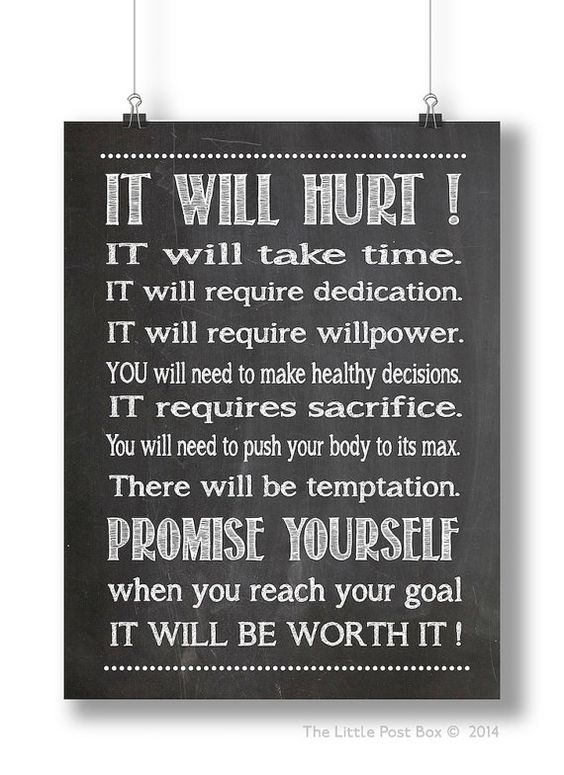 Motivational and inspirational fitness sign by for Inspirational signs for office
