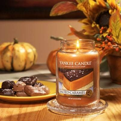 Salted Caramel Yankee Candle! One I really want this autumn ❤