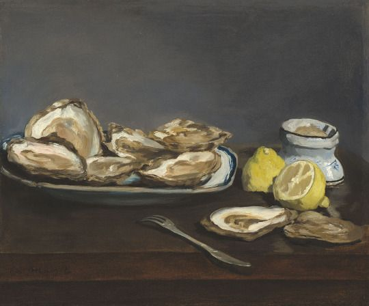 Edouard Manet (French, 1832-1883), Oysters, 1862. Oil on canvas, 39.2 x 46.8 cm.