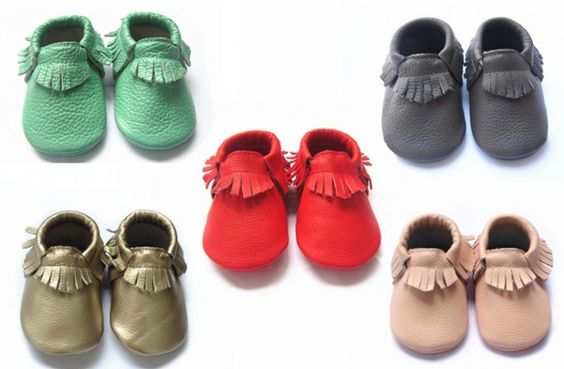 GroopDealz | Genuine Leather Baby Moccasins - 8 Colors!