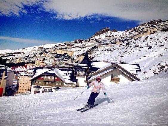 Esquiando en Sierra Nevad, Granada ;-)