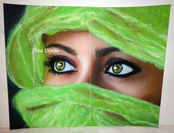 Peinture au pastel sec pour tableau boh me ethnique - Dessin au pastel sec ...