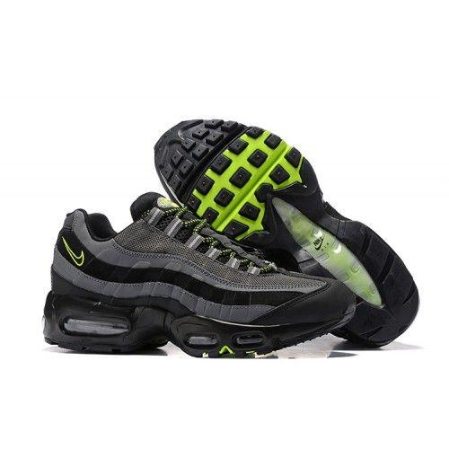 Nike Air Max 95 Schuhe Herren Schwarz Grau Grun In 2020 Schuhe Herren Nike Air Max Nike Schuhe Manner