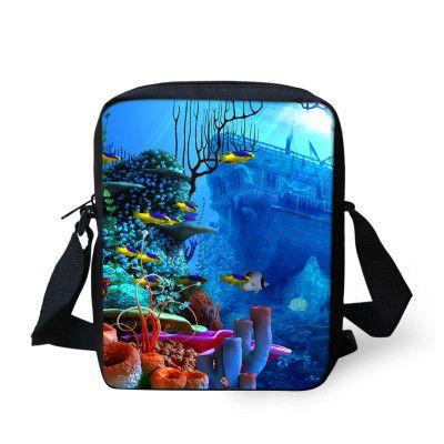 2016 Animal Mini Bag Children Messenger Bags for Boys Girls Fish Printed Kindergarten Baby Kid Crossbody Bags Mochila Infantil
