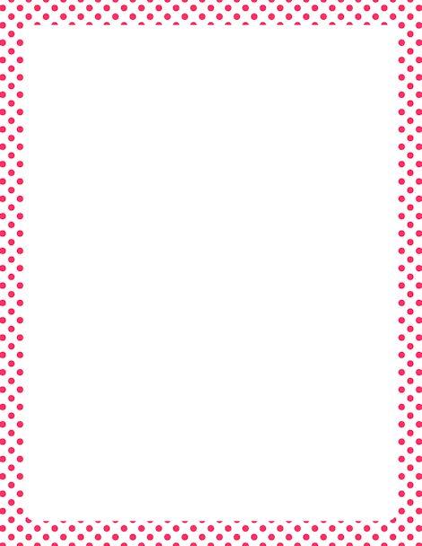 Pink and White Polka Dot Border | borders | Pinterest | Rosa, Puntos y ...