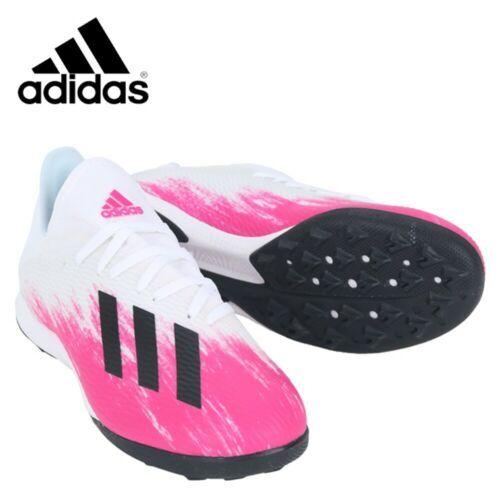 Adidas X 19 3 Tf Turf Football Shoes Soccer Cleats White Pink Black Eg7157 In 2020 Football Shoes Soccer Cleats Adidas