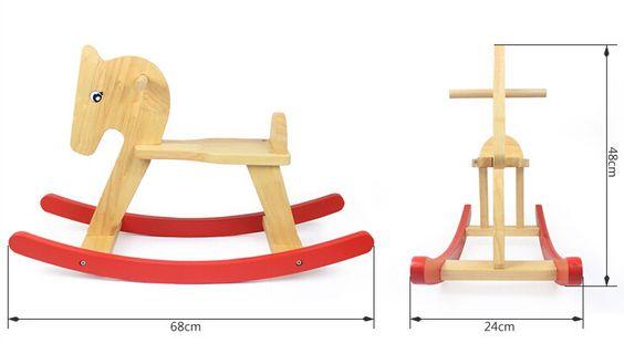 Super gran caballo de oscilación de madera para niños juguete envío gratuito TGMN62H(China (Mainland))