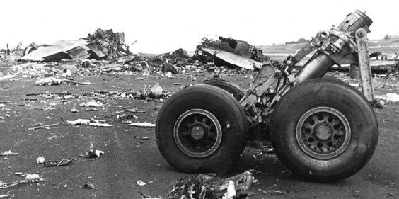 The aftermath of the Tenerife airport disaster, 1977