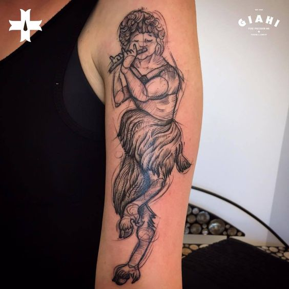Some faunic tunes by tattoo apprentice Steven, done at Giahi Tattoo & Piercing, Löwenstrasse 22.