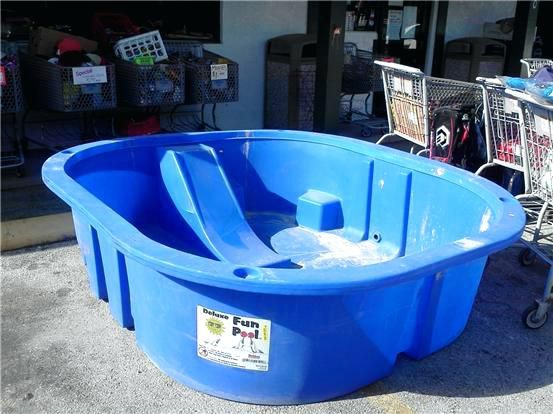 Hard Plastic Kiddie Pool With Built In Slide Pools Tool Or