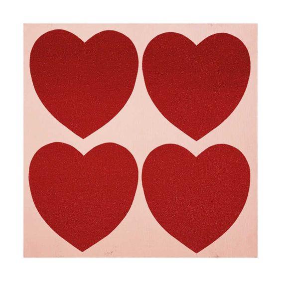 Hearts, c.1979-84. I love this simple Warhol.