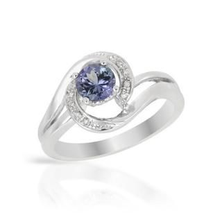 Ring with 0.7ct TW Diamonds and Tanzanite in .925 Sterling Silver - Overstock™ Shopping - Top Rated Gemstone Rings