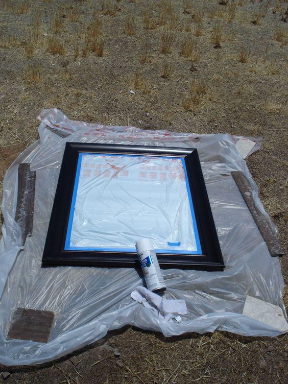 spray paint mirror
