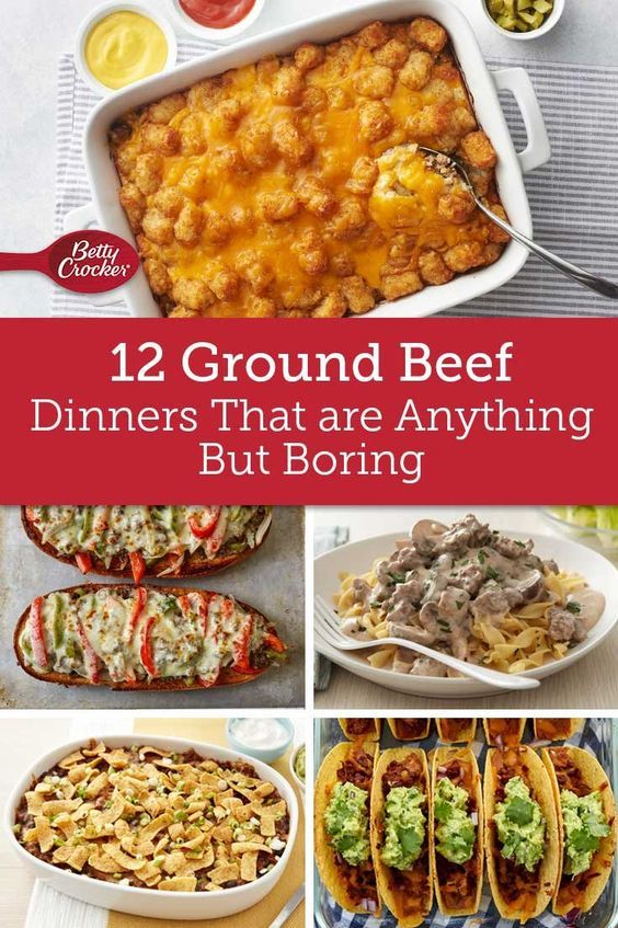 14 Ground Beef Dinners That Are Anything But Boring Dinner With Ground Beef Beef Dinner Dinner