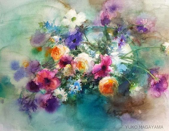 Flower watercolor artist ... Yuko Nagayama .. Discussion on LiveInternet…: