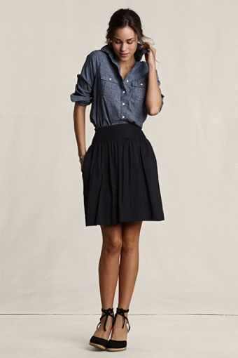 lands end canvas gathered full skirt