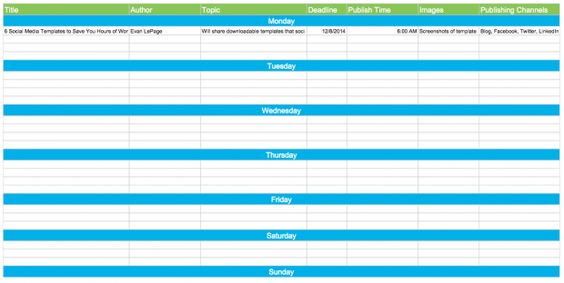 free downloadable Editorial Calendar, with social media calendar - social media calendar template