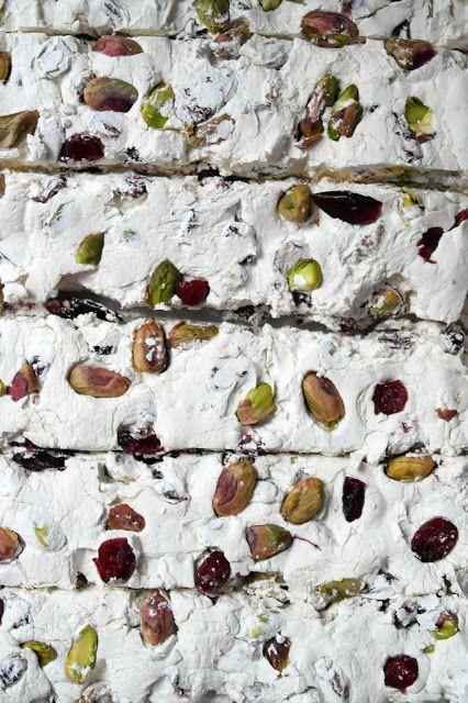 pistachio & cranberry nOugat: