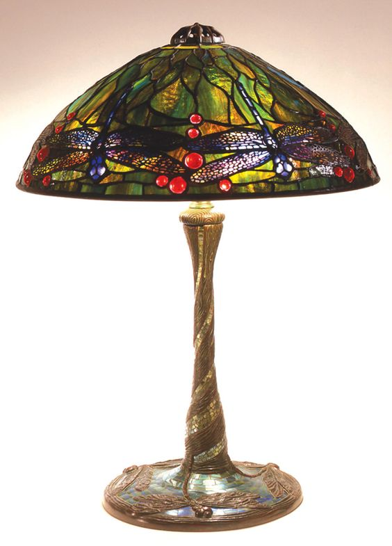 Lampara de mesa  de libelulas  Louis Comfort Tiffany