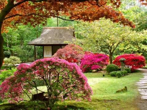 Japanese Gardens And Japanese Music Good Relaxing Material I Do Not Own Any Of The Images Or Th Beautiful Flowers Garden Japanese Garden Beautiful Gardens