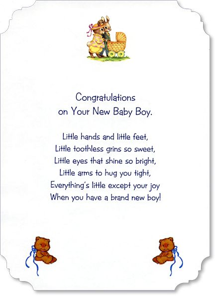 Free Verses For Baby Boy Cards Google Search Card