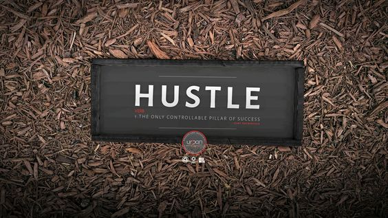 """""""Hustle Definition"""" wood sign made by Urban21Signs. Inspired by Gary Vagnerchuk"""