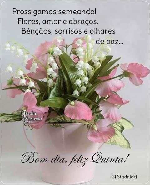 Pin De Fatima Fraga Em Bom Dia Feliz Quinta Feliz Quinta
