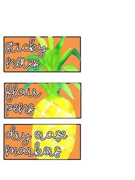 Fruit Teacher Toolbox Labels Editable With Images Teacher