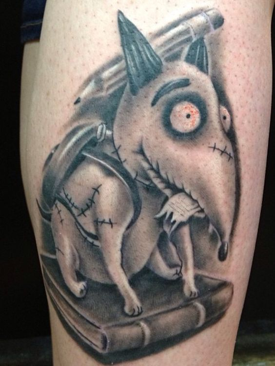 my sparky tattoo done by jim francis at milwaukee ink tattoo company frankenweenie tim burton. Black Bedroom Furniture Sets. Home Design Ideas