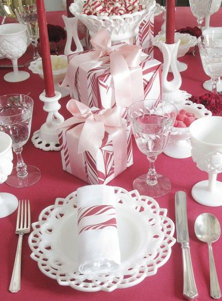 Top 100 Christmas Table Decorations | Tablecloths, Candy canes and ...