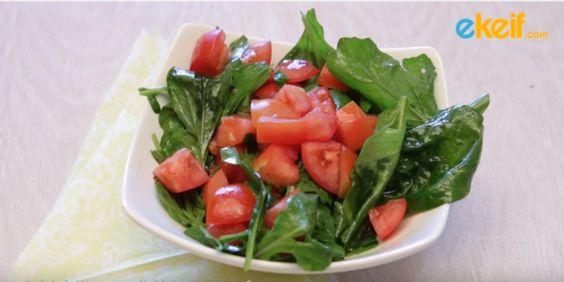كيف نعد سلطة الجرجير والطماطم؟ #سلطات #Salads