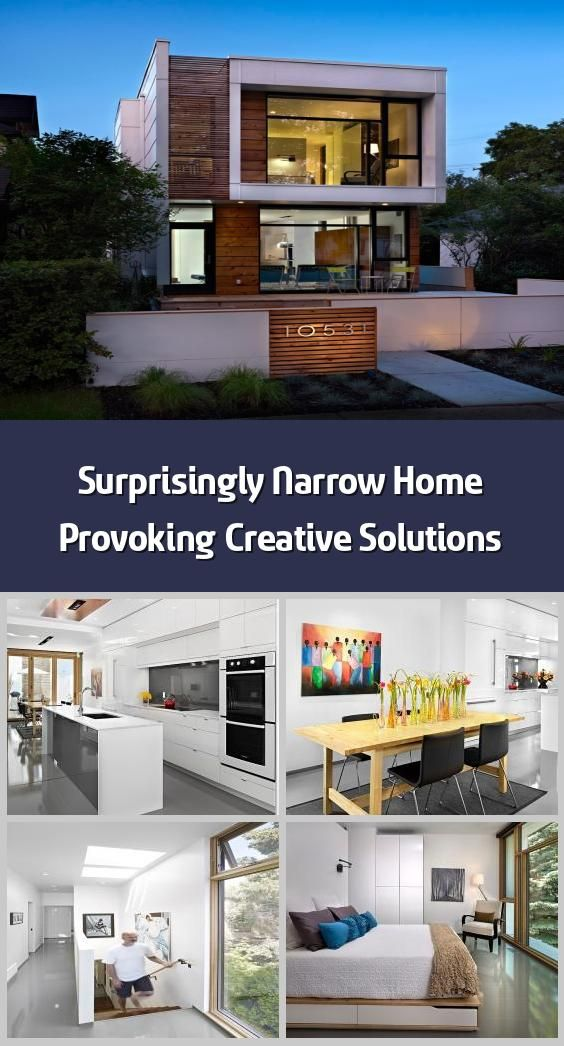 Surprisingly Narrow Home Provoking Creative Solutions This Narrow Home In Edmonton Canada Measures Only 17 In 2020 Architecture Details Architecture House Styles