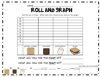 Here's a fun roll and graph activity with a S'mores theme Yum!