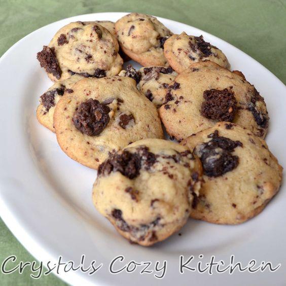 Brownie Chunk Cookies | Cookies | Pinterest | Brownies, Cookies and ...
